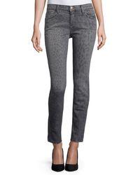 Current/Elliott | Multicolor The Stiletto Gray Leopard Jeans | Lyst