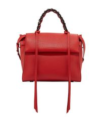 Elena Ghisellini | Red Angel Madras Top-handle Satchel Bag | Lyst