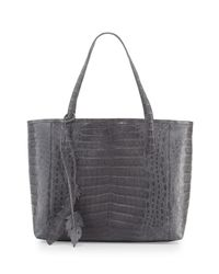 Nancy Gonzalez - Brown Erica New Crocodile Leaf Tote Bag - Lyst