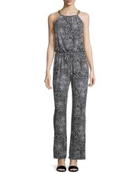 Laundry by Shelli Segal - Black Printed Wide Leg Chain Link Jumpsuit - Lyst