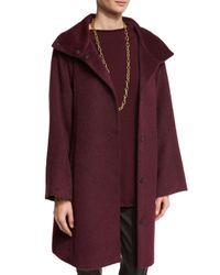 Eileen Fisher | Multicolor Fisher Project Oversized Alpaca-blend Coat | Lyst