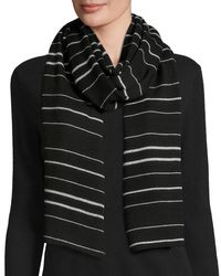 Eileen Fisher | Black Merino Jersey Striped Scarf | Lyst