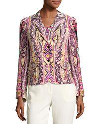 Etro - Multicolor Batik Two-button Short Blazer - Lyst