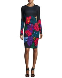 Prabal Gurung - Multicolor Printed Long-sleeve Sheath Dress - Lyst