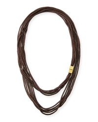 Lafayette 148 New York | Brown Tea Long Mesh Necklace | Lyst