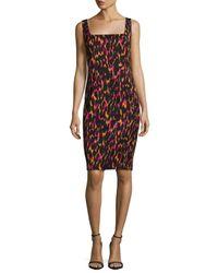 Trina Turk | Black Bewitching Sleeveless Printed Sheath Dress | Lyst