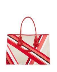 Longchamp - Red Club Medium Open Tote Bag - Lyst