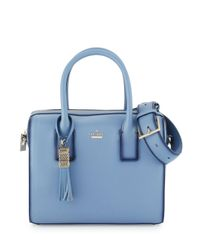 kate spade new york - Blue Ridley Street Leather Satchel Bag - Lyst