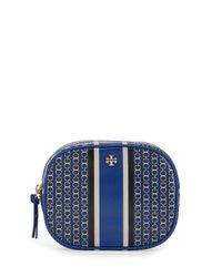 Tory Burch | Blue Gemini Link Round Cosmetic Bag | Lyst