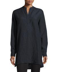 Joseph | Blue Dara Long-sleeve Linen Tunic | Lyst