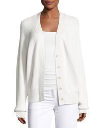 Calvin Klein - White Cashmere Oversized Raglan Cardigan - Lyst