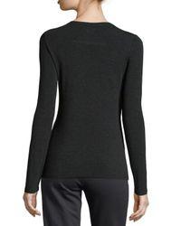 Eileen Fisher - Black Long-sleeve Jersey Cozy Tee - Lyst