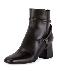 Tom Ford - Black T-bar Leather 65mm Bootie - Lyst