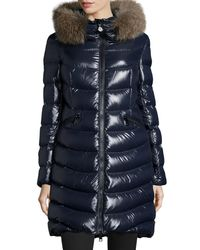 Moncler - Blue Aphia Hooded Puffer Jacket - Lyst