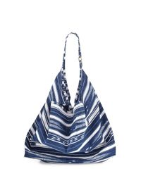 La Blanca | Blue Striped Canvas Beach Tote Bag | Lyst