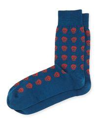 Alexander McQueen | Black Skull Knit Short Socks for Men | Lyst