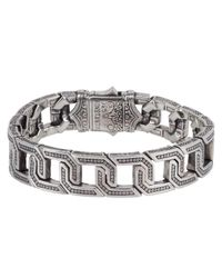 Konstantino | Metallic Men's Sterling Silver Flat Link Bracelet for Men | Lyst