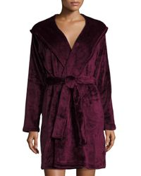 UGG | Purple Miranda Plush Hooded Short Robe | Lyst