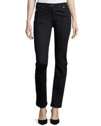ESCADA | Black Embellished Straight-leg Jeans | Lyst