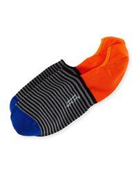 Paul Smith | Black Striped Colorblock Loafer Socks | Lyst