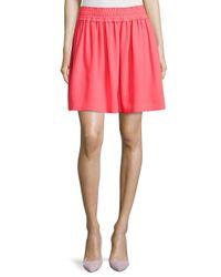 kate spade new york - Pink Crepe Gathered Skirt - Lyst