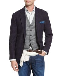 Brunello Cucinelli | Purple Glen Plaid Wool/cashmere Sport Coat for Men | Lyst