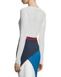 ESCADA   Black Needle-drop Sweater With Tank   Lyst