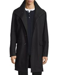 Vince | Black Raw-edge Single-breasted Military Coat for Men | Lyst