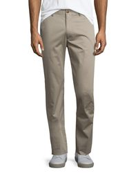 Vince | Multicolor Flat-front Stretch Sateen Pants for Men | Lyst