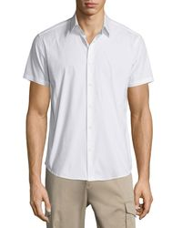 Theory - White Sylvain Short-sleeve Shirt for Men - Lyst