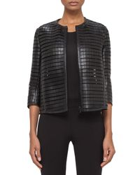 Akris - Multicolor Bracelet-sleeve Zip-front Grid Jacket - Lyst
