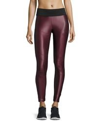 Koral Activewear - Purple Shiny Moto Sport Leggings - Lyst