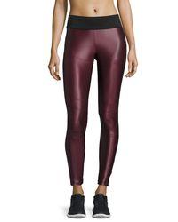 Koral Activewear | Purple Shiny Moto Sport Leggings | Lyst