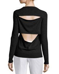 Michael Kors   Multicolor V-neck Slash-back Cashmere Sweater   Lyst