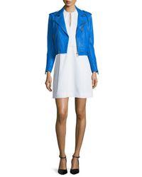 Victoria, Victoria Beckham - White Sleeveless Frayed-trim Dress - Lyst