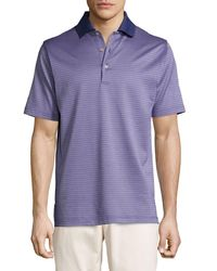 Peter Millar | Purple Ophelia Jacquard Cotton Lisle Polo Shirt for Men | Lyst