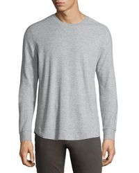 Vince - Gray Long-sleeve Waffle-knit Sweater for Men - Lyst
