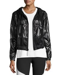 Adidas By Stella McCartney | Black Climastorm® Embossed Run Jacket | Lyst