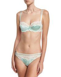 Lise Charmel   Green Splendeur Soie Lace-trim Demi Bra   Lyst