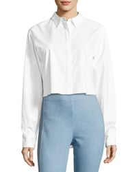 Rag & Bone | White Calder Reversible Long-sleeve Button-front Shirt | Lyst