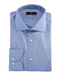 Ike Behar - Blue Gold Label Cotton-cashmere Dress Shirt for Men - Lyst