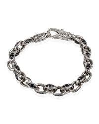 Konstantino - Metallic Men's Plato Sterling Silver Link Bracelet With Black Spinel for Men - Lyst