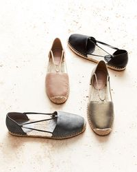 Eileen Fisher | Multicolor Lee Leather D'orsay Espadrille Flat | Lyst