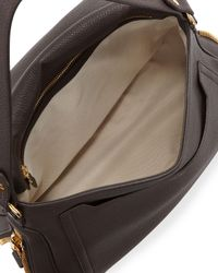 Tom Ford - Brown Jennifer Large Grained Leather Saddle Bag - Lyst