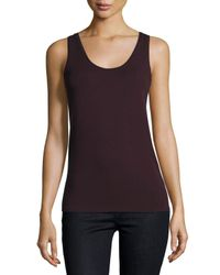 Neiman Marcus - Multicolor Soft Touch Scoop-neck Tank - Lyst