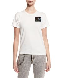 Marc Jacobs - White Classic Sequined Mtv Tee - Lyst