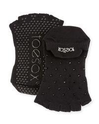 ToeSox - Black Night Grip Half-toe Socks - Lyst