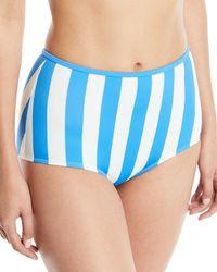 Solid & Striped - Blue The Brigitte High-waist Striped Swim Bottoms - Lyst