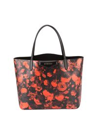 Givenchy - Red Antigona Large Rose-print Tote Bag - Lyst