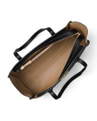 MICHAEL Michael Kors - Black Mercer Large Leather Tote Bag - Lyst